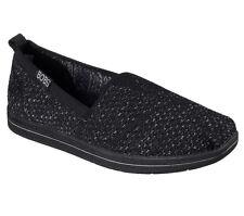 Women Skechers BOBS Super Plush Flat Shoe 34427/BKGY Black/Gray Brand New