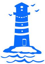 Leuchtturm Aufkleber 28x14cm für Badezimmer Auto Caravan Wohnmobil Tattoo  228