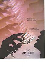 PUBLICITE  1972  SAINT LOUIS cristal verres service TOMMY