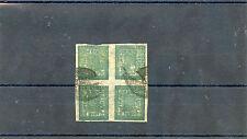 NEPALSc 9(MI 9Ba)VF USED BLOCK OF FOUR, TELEGRAPH CANCEL, $300