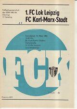 OL 83/84  FC Karl-Marx-Stadt - 1. FC Lok Leipzig