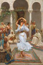 REPRO DECO TABLEAU TOILE LA DANCE BEAUTE FEMMES ORIENTALES ROBE 190 OU 310 GRS
