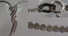 Merveilleuse chaîne en argent 835 chaîne en argent avec SAPHIR pierres collier