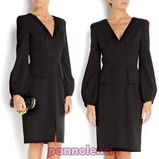 Vestito donna abito elegante maniche palloncino miniabito avvitato nuovo DL-1397