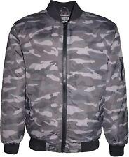 Mens Camouflage Bomber Jacket Harrington Padded Military Winter Coat