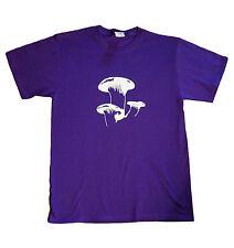 Mushrooms T-shirt Purple Men Size M-XL Boomers Shroom Psychedelic