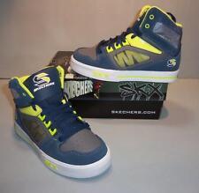 Skechers Boy's Yoke Skate Skateboarding Athletic Shoes SIZES! NIB Navy Blue