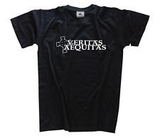 Veritas Aequitas III Celtic Cross T-Shirt S-XXXL Nuovo