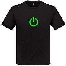 Encendido Camiseta S-XXL HOMBRE MUJER BIG BANG THEORY Geek Nerd techie ordenador