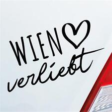 Auto Aufkleber Wien verliebt Herz Stadt Heimat Liebe Car Sticker