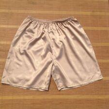 Men Satin Silk Pajamas Shorts Loose Home Wear Casual Pants Nightwear Summer 1PC