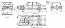 1973 BMW-5-Series-E12 520i - Blueprint Poster