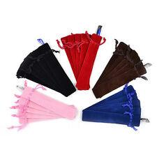 5PCS Velvet Pen Pouch Sleeve Holder Single Pen Bag Case Pencil Bag Square Pip Ll