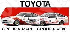 Retro Touring Car T-shirt: Group A Toyota Celica Supra & Corolla GT AE86
