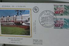 ENVELOPPE PREMIER JOUR SOIE 1982 CONSEIL DE L'EUROPE