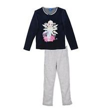 DISNEY ensemble pyjama velours LA REINE DES NEIGES  4 5 6 ou 8 ans marine gris