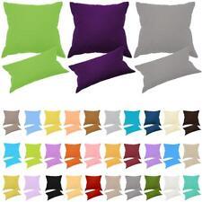 Kissenbezug Kissenbezüge 100% Baumwolle Kissenhülle Kissen Hülle Bezug v. Farben