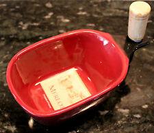 New Merlot Wine and Cheese Dip Bowl & Cork Spreader Set Party Kitchen Decor