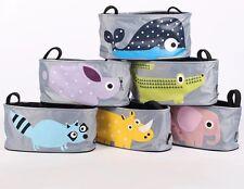 Baby Kids Cartoon Pram Organiser Storage Toys Container Canvas Bag