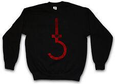 SATANIC CROSS SWEATSHIRT PULLOVER Symbol Pentagram 666 Sign Double Kreuz Church