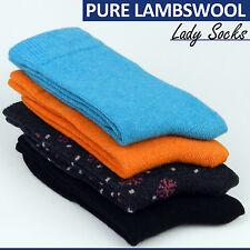 80% Lana Pura Merino Mujeres Calcetines Par de Calcetines de invierno gruesa lana de cordero lana cardada