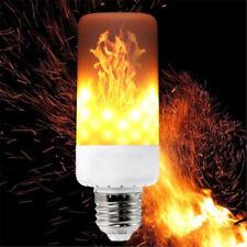 LED Flame Effect Simulated Nature Fire Light Bulb E27 E26 E14 E12 Lamp 4 Modes