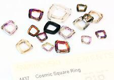 Genuine swarovski 4437 cosmic square bague fantaisie cristaux * toutes tailles & couleurs