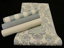 "2934-) hochwertige Vliestapete ""Shabby Style"" Barock - Design Tapete creme grau"