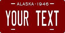 Alaska 1946 License Plate Personalized Custom Car Bike Motorcycle Moped Key Tag