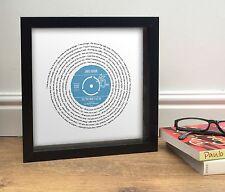 James Arthur SAY YOU WON'T LET GO Song Lyrics Print | Personalised Record Design