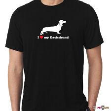 I Love My Dachshund Tee Shirt wiener dog