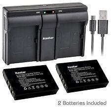 Klic-5001 Battery& Usb Dual Charger for Kodak EasyShare Z730 Z760 Z7590 Dx7440