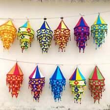 Decorative Cotton Fabric Lamp Shade Indian Handmade Cotton Lantern Collapsible