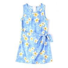 MADE IN HAWAII GIRL LUAU BEACH CRUISE Wrap Sarong Dress Blue Plumeria Flower