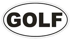 GOLF Oval Bumper Sticker or Helmet Sticker D520 Laptop Cell Phone Golfer Euro