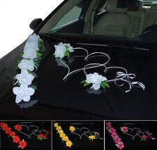 Brautauto Dekoration Hochzeitsauto Autoschmuck Autodeko Rosen Herzen - 9 Rosen