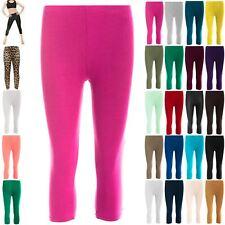 Womens 3/4 Length Jogging Running Trousers Ladies Gymming Jog Bottoms Leggings