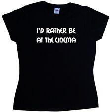I'd Piuttosto Essere al cinema DONNA T-SHIRT