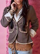 Sexy Miss Blazer Hot Style taillierter Blazer Jacke braun 34 36 38 40 NEU TOP