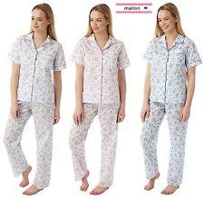 New Women's Ladies Poly Cotton Short Sleeve Pyjamas PJ'S  up to Plus Size 10-30