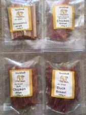Stockbull Natural Dog Treats - Chicken / Duck / Chicken & Fish Strips etc 100g