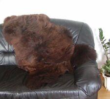 große englische Lammfelle naturbraun, Haarlänge ca. 70-100 mm, 100 oder 110 cm