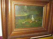 DAMME-SYLVA Emile van, *1853 Entenfamilie am Fluß