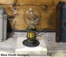 Clean Simple Table Lamp Handmade, Edison Bulb, Bedside Light