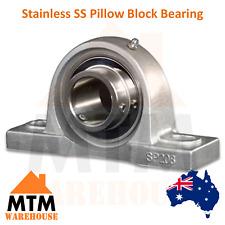 Stainless SS Pillow Block Bearing Self Aligning Foot Mount Housing 12-50mm Bore
