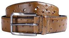 Hombre Cuero Real Con Textura Gruesa Cinturones Hebilla De Pin S-3XL