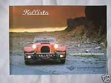 Panther Kallista 1.6 & 2.8 V6 Brochure & Price List