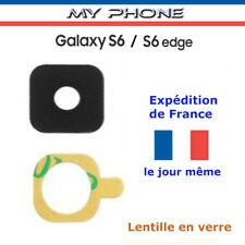 Vitre Lentille Camera GALAXY S6 EDGE /  S6 NOIR Samsung Arrière SM-G925F  G920F