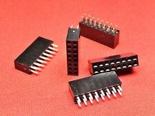 Encabezado de PCB de 8+8 vías tira de zócalo doble fila Chapado en Oro TFH16DS