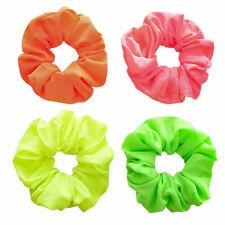 New Neon Colour Hair Band Elastic Scrunchie Pink Orange Yellow Green